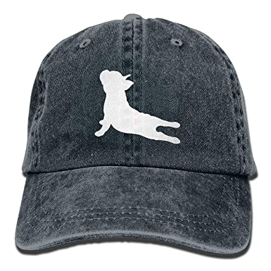 MeiMei2 French Bulldog Yoga Vintage Adjustable Jeans Cap Gym Caps for Man  and Woman 1b9706409c92