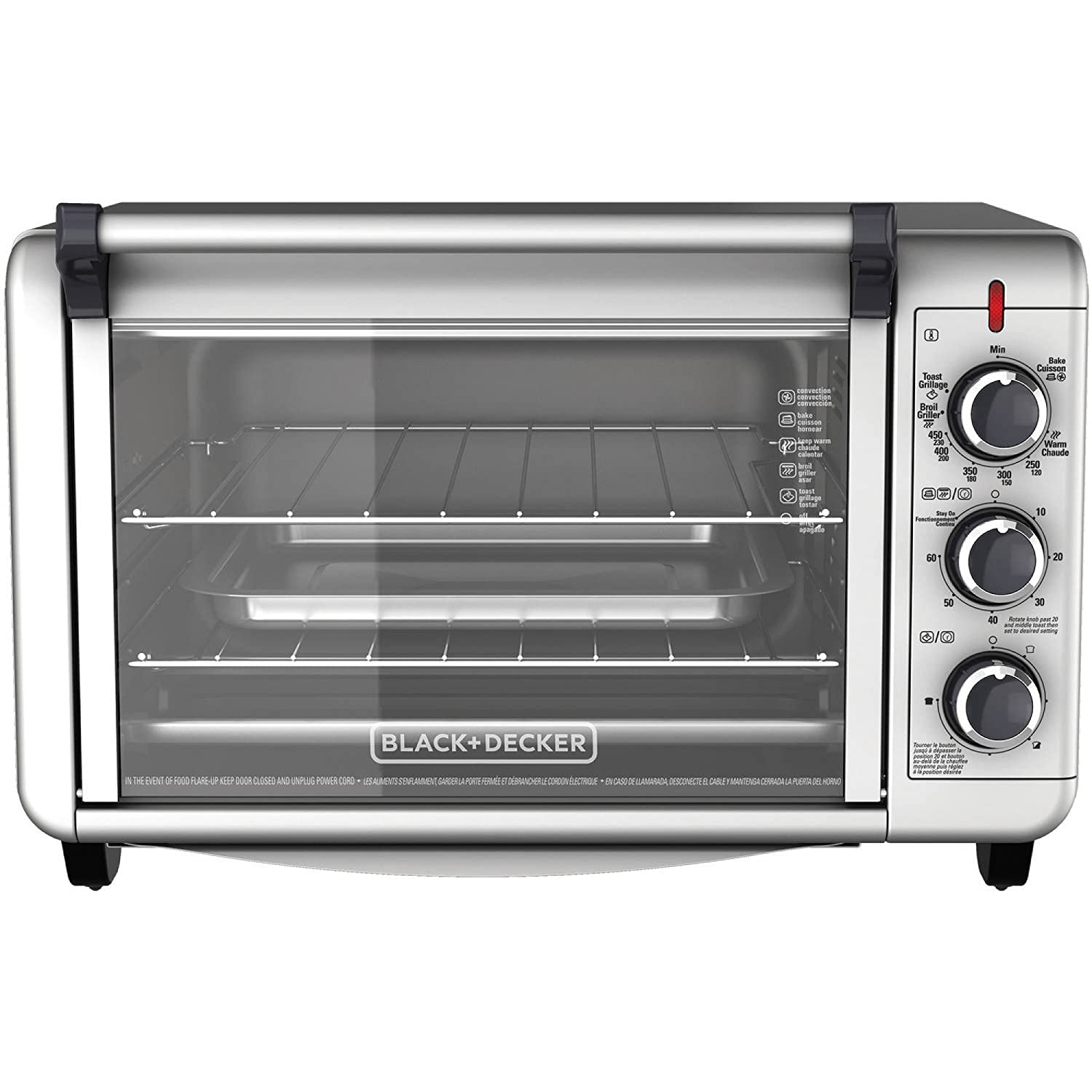 Amazon Black Decker Countertop Convection Toaster Oven with