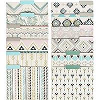 Decorative File Folders - 12-Count Colored File Folders Letter Size, 1/3-Cut Tabs, Cute Bohemian Tribal Designs, Office…