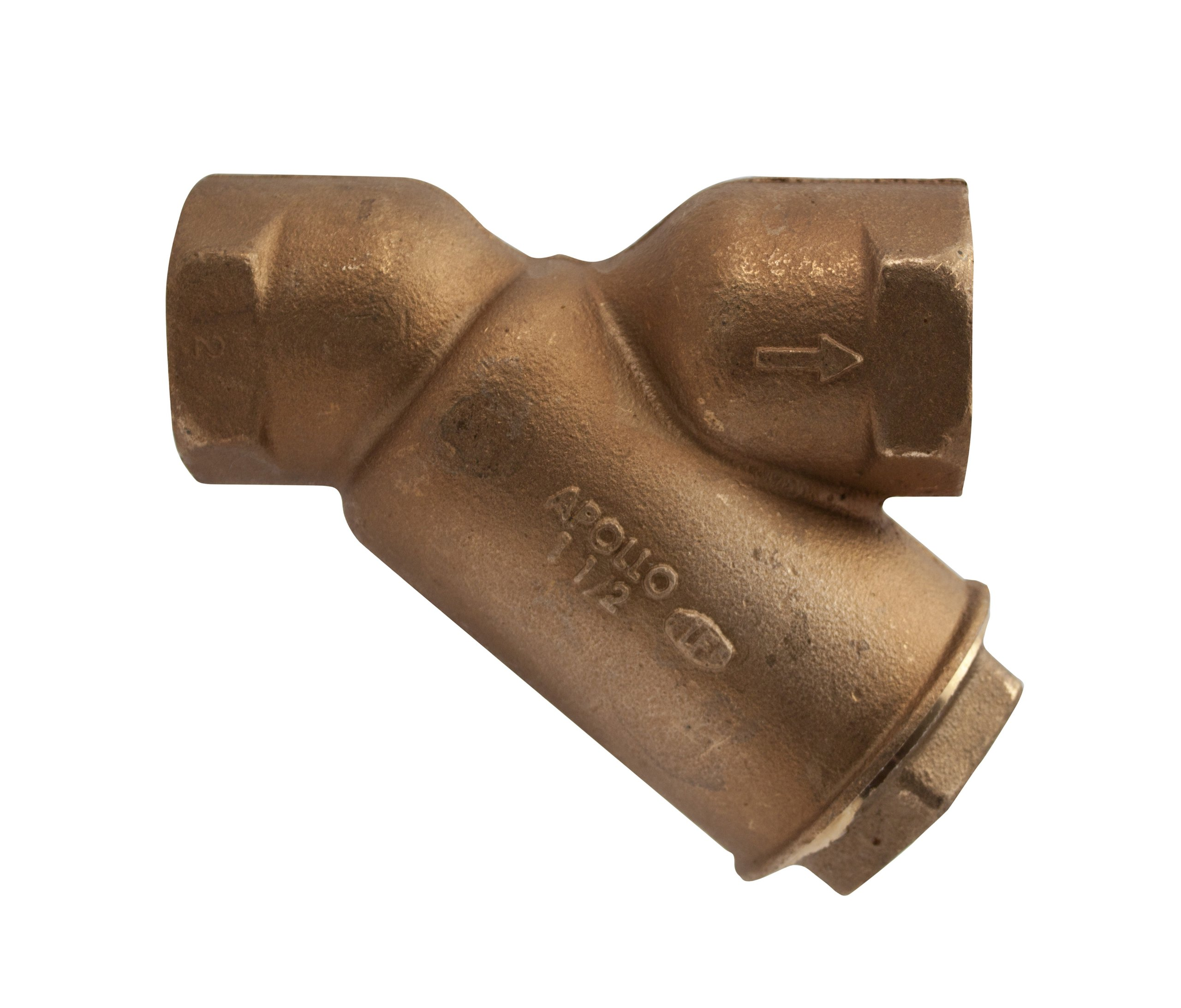 Apollo Valve 59LF Series Bronze Lead Free Y-Strainer with 1/2'' Tapped Cap, 3/4'' NPT Female, 20 Mesh Screen by Apollo Valve