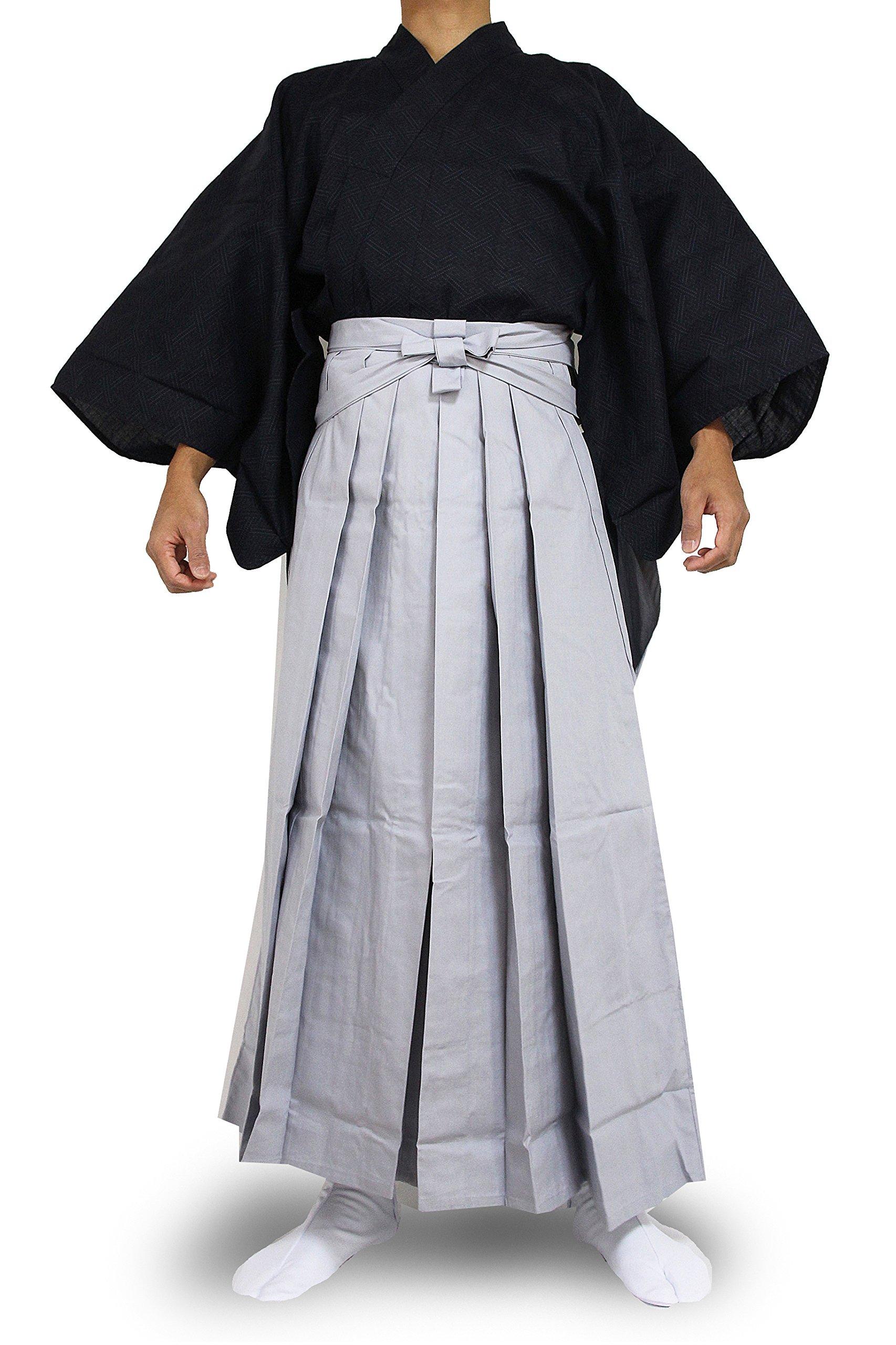Edoten Japanese Samurai Hakama Uniform 1771NV-GY XL by Edoten (Image #1)