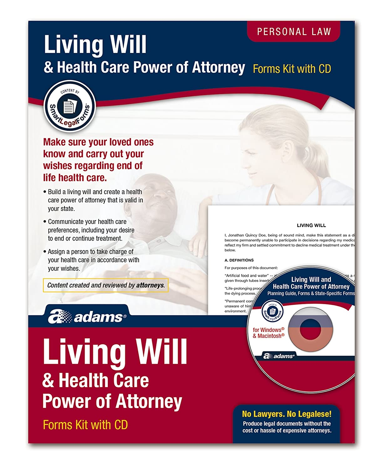Amazon Adams Living Will And Power Of Attorney For Healthcare