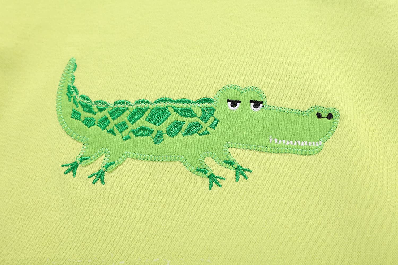 ColorStar Boy Pajamas Short Sleeve Crocodile Sleepwear Little PJS 2T-7T
