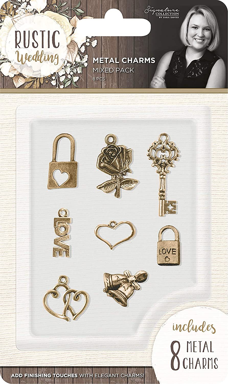 Gold Metall 9.1/x 15/x 0,7/cm Sara Signature Rustikal Hochzeit Charms