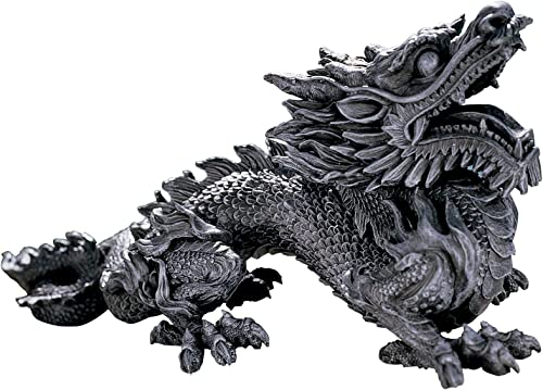 Design Toscano CL2840 Benevolent Asian Dragon Statue,greystone