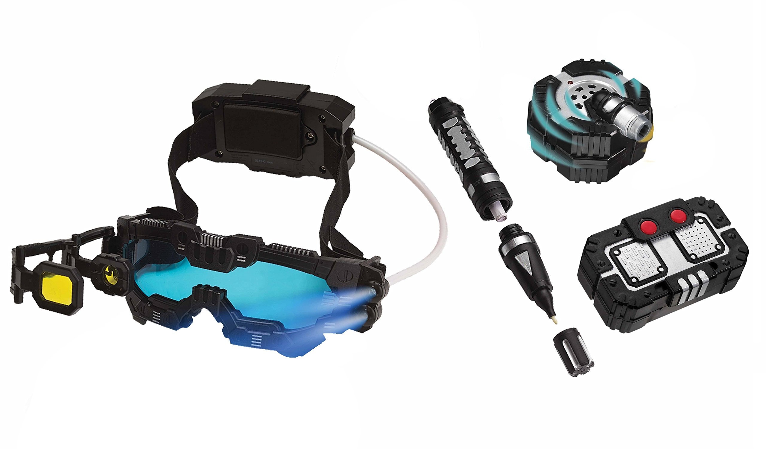SpyX / Night Ranger Set - Includes Night Mission Goggles / Motion Alarm / Voice Disguiser / Invisible Ink Pen. by SpyX