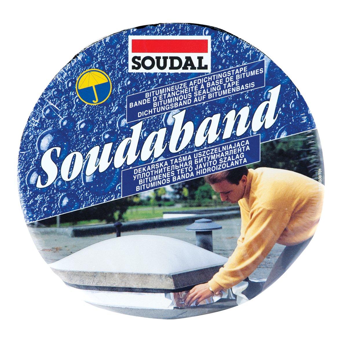 Bitumen SOUDAL SOUDABAND Abmessung: 75mm x 10m Anschlussband Alu