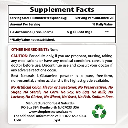 Best Naturals L-glutamine powder 4 Ounce