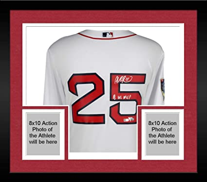 sale retailer b07bd 3c139 Framed Steve Pearce Boston Red Sox 2018 MLB World Series ...