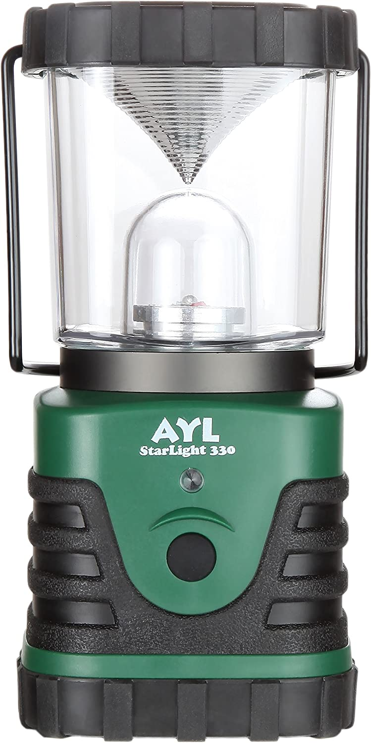 AYL Starlight – Water Resistant – Shock Proof – Battery Powered Ultra Long Lasting Up to 6 Days Straight – 600 Lumens Ultra Bright LED Lantern – Perfect Camping Lantern for Hiking, Camping