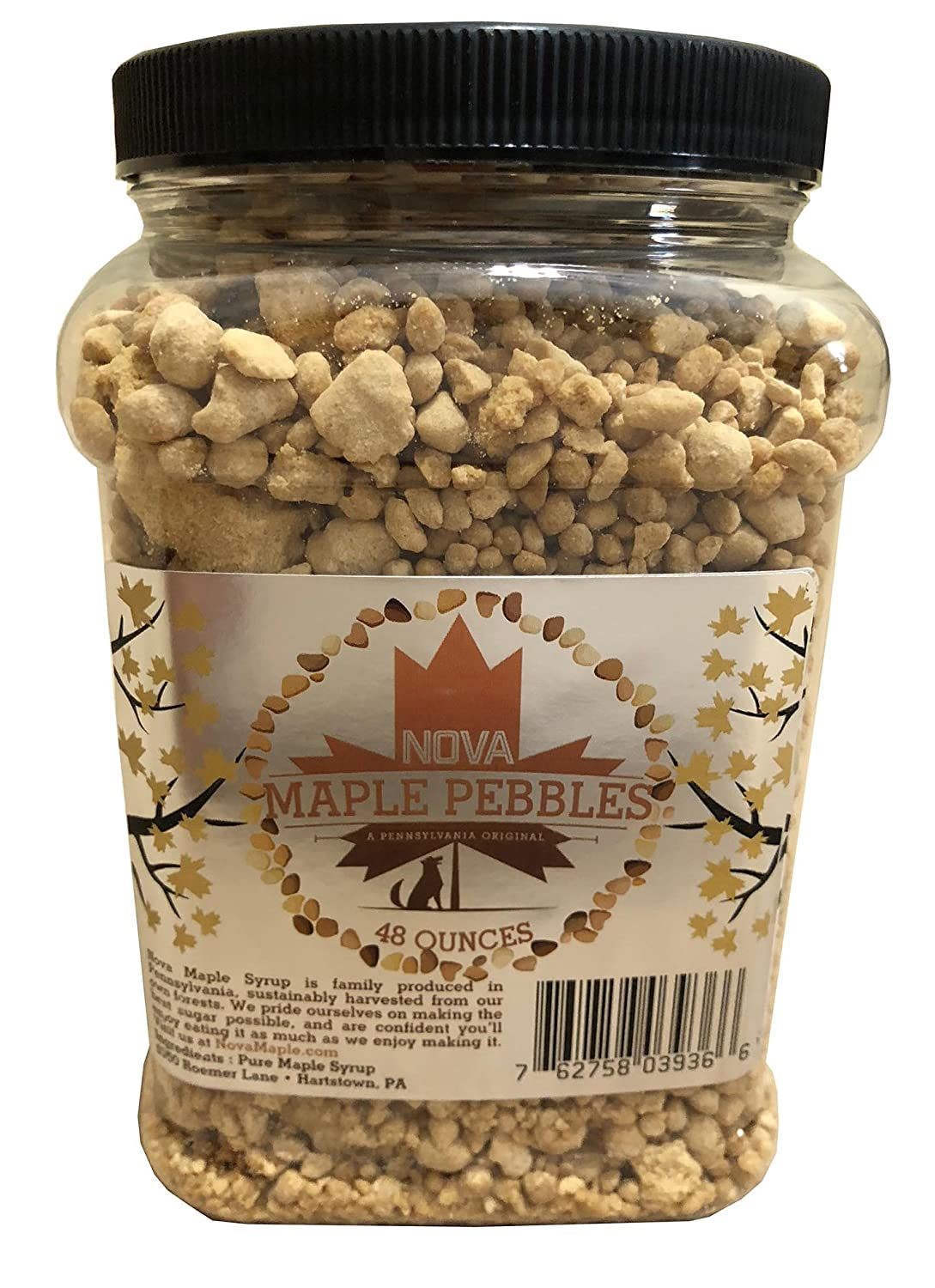 Nova Maple Sugar Pebbles - Pure Maple Syrup Sugar Chunks and Sprinkles (3  Pounds)