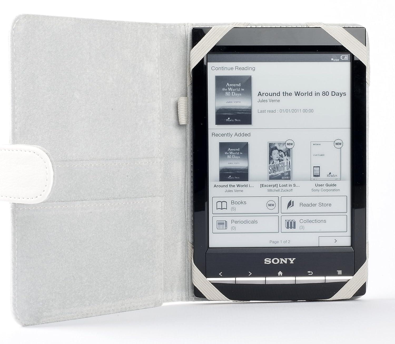 ODYSSEY - Funda para Sony PRS-T1 y T2 (blanco): Amazon.es: Informática