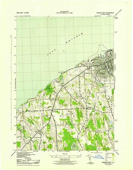 Map Of New York Oswego.Amazon Com Yellowmaps Oswego West Ny Topo Map 1 31680 Scale 7 5 X