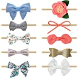 10 Pcs Baby Girl Headbands and Bows, Newborn Infant Toddler Hair Accessories by KECUCO (STYLE A)