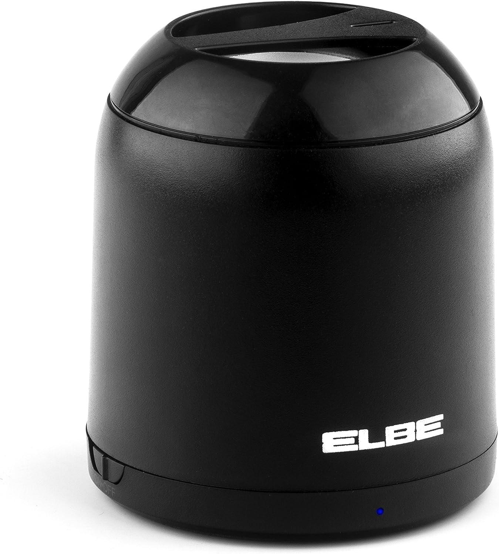 Elbe ALT-58-BT - Mini Altavoz Bluetooth (3 W, Aux-In) Color Negro: Amazon.es: Electrónica