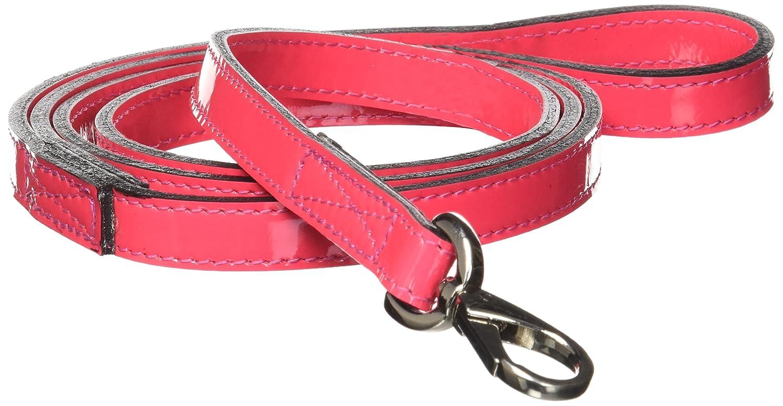 Hartman & pink 3409 Georgia Dog Lead, 1 2-Inch, Hot Pink Patent
