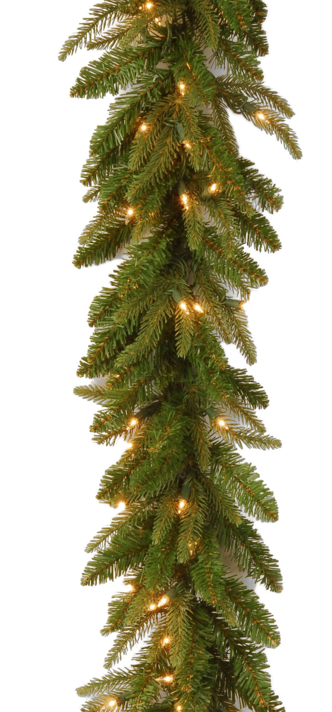 National Tree 6 Foot by 10 Inch ''Feel Real'' Fraser Grande Garland with 50 Battery Operated Dual Color LED Lights (PEFG3-300D-6AB1)