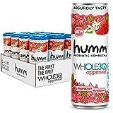 Humm Whole30 Approved Probiotic Kombucha Strawberry Blossom - The Only Whole30 Approved Kombucha. Absurdly Tasty. 2 Billion P