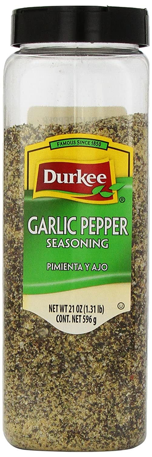 Durkee Garlic Pepper Seasoning, 21 Ounce Container