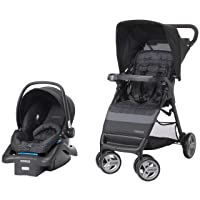 Deals on Cosco Simple Fold LX Travel System Black Arrows