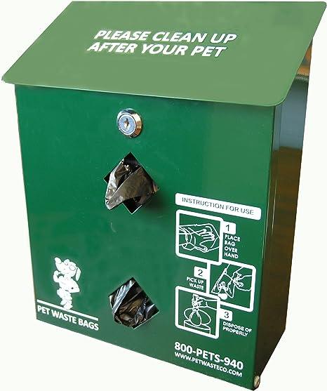 Amazon.com: Pet Waste Bag Dispenser, aluminio, con 400 perro ...