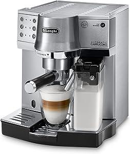 De'Longhi EC 860.M mit patentiertem Milchaufschäumsystem, auf Knopfdruck Cappuccino und Latte Macchiato zubereiten
