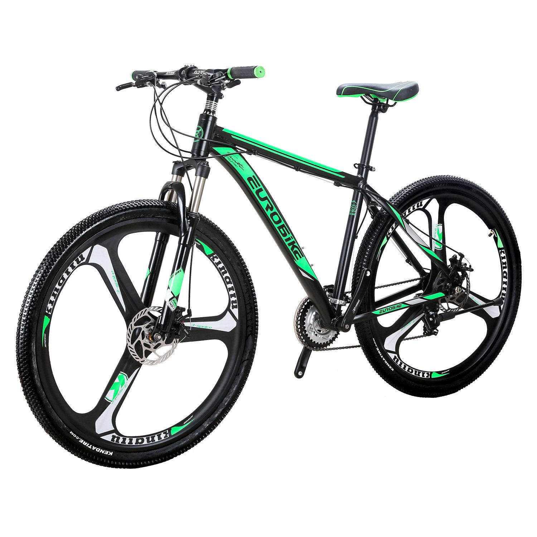 046b91d66fa Amazon.com : Eurobike EURX9 Mountain Bike 21 Speed 3-Spoke 29 Inches Wheels  Dual Disc Brake Aluminum Frame MTB Bicycle (Blackgreen) : Sports & Outdoors