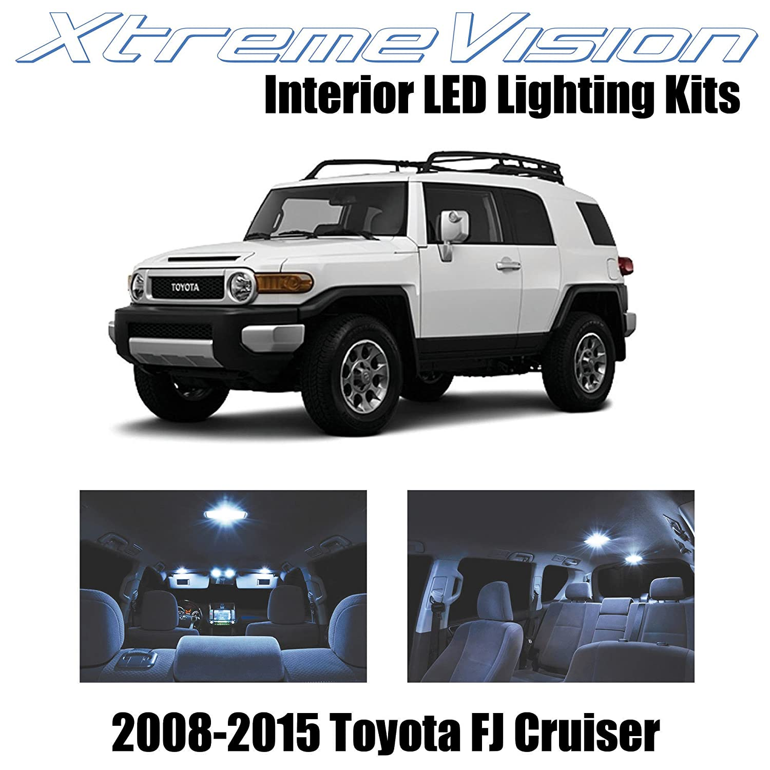 Amazon.com: XtremeVision Toyota FJ Cruiser 2008-2015 (4 Pieces) Cool White  Premium Interior LED Kit Package + Installation Tool: Automotive