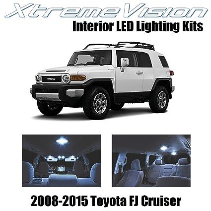 XtremeVision Toyota FJ Cruiser 2008 2015 (4 Pieces) Cool White Premium  Interior LED