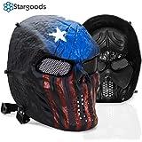 Stargoods Skeleton AirSoft Mask - Metal Mesh Paintball, BB Gun & CS Games