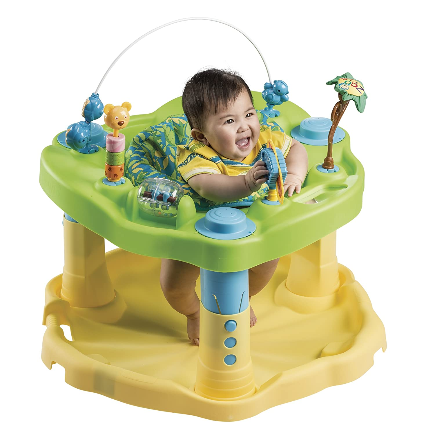 modern exersaucer exersaucer it's been delicious   - evenflo exersaucer bounce and learn activity centre zoo friends