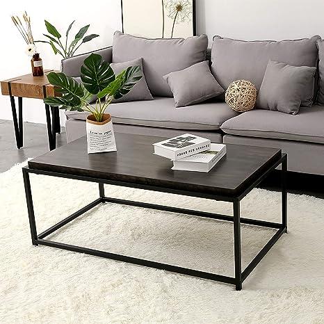 Amazon.com: Ivinta - Mesa de centro rectangular para salón ...