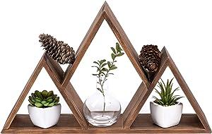 EverPine Mountain Floating Wall Shelf | Premium Real Pine Wood Home Shelving | Rustic Triangle Design for Home, Cabin, Bedroom, Nursery, Children, Living Room Shelves Decor
