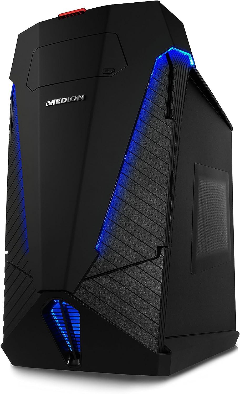 MEDION X77 - Ordenador de sobremesa (Intel Core_i7 4.0 GHz, nVidia GeForce GTX 1070 - 8 GB GDDR5, disco duro de 2 TB, 32 GB de RAM) negro