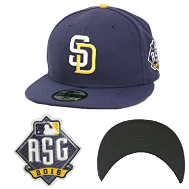 New Era 59Fifty San Diego Padres On Field All Star Game Side Patch Fitted  Cap ( 838163b34dab