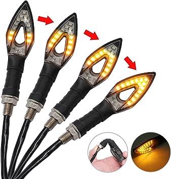 Proster Blinker Licht 4 Stück Led Wasserdichte Blinker Lampe Mini Bernstein Indikatoren Für Motorrad Motorrad Auto