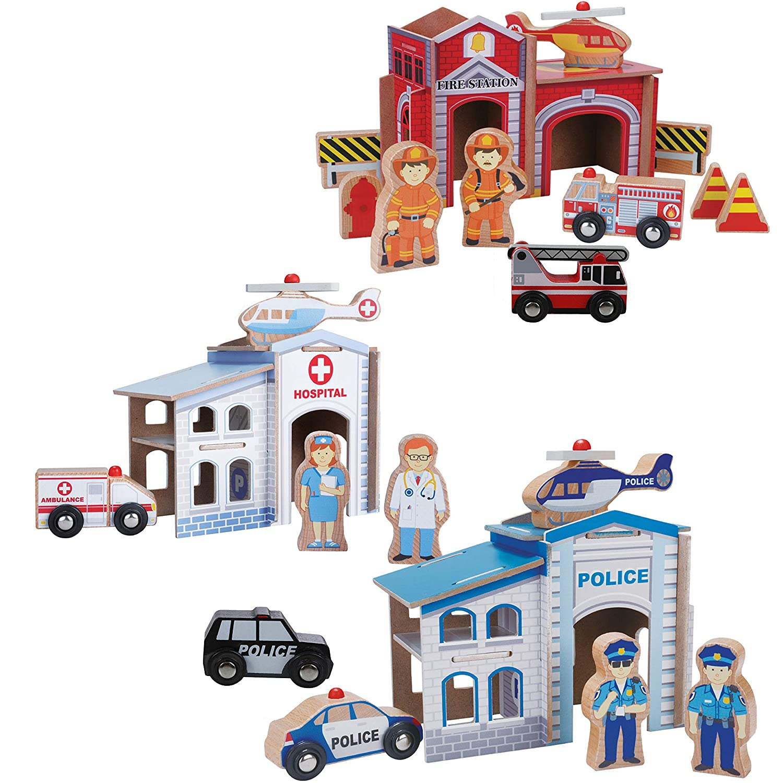 Fire and Hospital Rescue Train Set Melissa and Doug Tracks Not ...