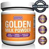 Golden Milk Powder (90 Servings) Turmeric 6 Superfood Blend - Non-GMO, Vegan Turmeric and Curcumin Super Blend – Drink Mix Formulated for Max Absorption