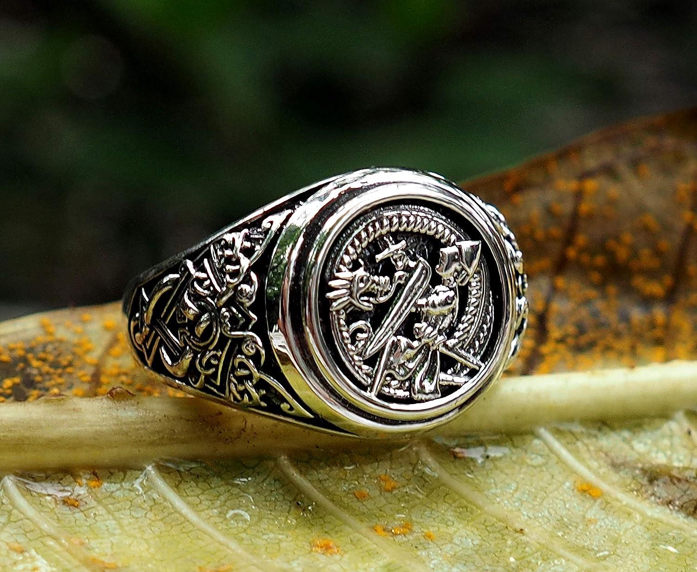Amazon com: Siegfried and Fafnir Ring Viking Ring