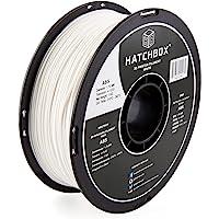 HATCHBOX ABS 3D Printer Filament, Dimensional Accuracy +/- 0.03 mm, 1 kg Spool, 1.75 mm, White