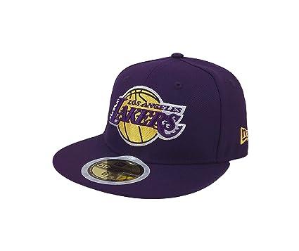 c1123c4f6bb New Era 59Fifty Kid s Hat NBA Los Angeles Lakers Classic Wool Purple Fitted  Cap (6
