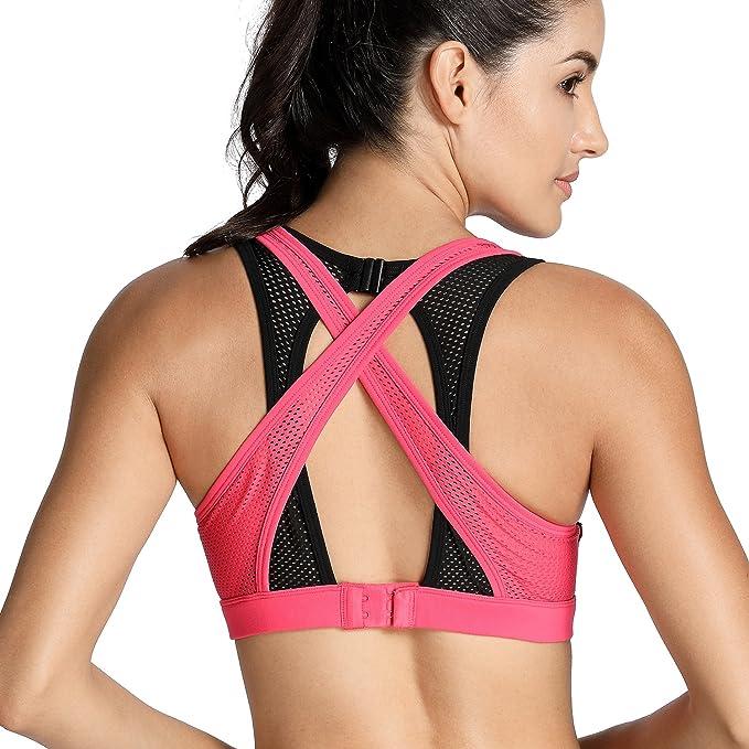 CRZ YOGA - Sujetador Deportivo Racerback Sin Aros Almohadillas Extraíbles para Mujer: Amazon.es: Ropa y accesorios