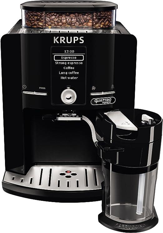 Krups EA82F8 - Cafetera (Independiente, Máquina espresso, 1,7 L, Granos de café, Molinillo integrado), Negro: Amazon.es: Hogar