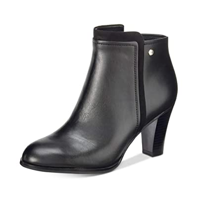 Giani Bernini Womens Bellee Leather Block Heel Booties | Shoes