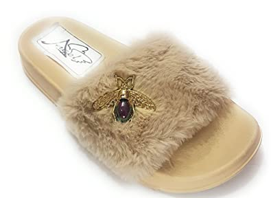 45d528887bf Angel Fashion Cute Fur Sandal for Women   Girls  Buy Online at Low ...