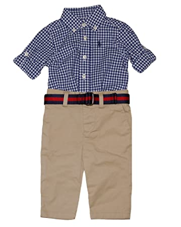 b22ee62983faf Image Unavailable. Image not available for. Color  Ralph Lauren Polo Baby  Boys Gingham ...