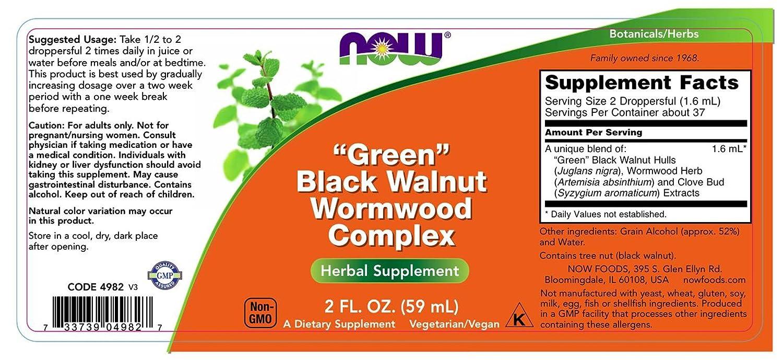 Amazon Now Foods Fresh Green Black Walnut Wormwood Complex 2