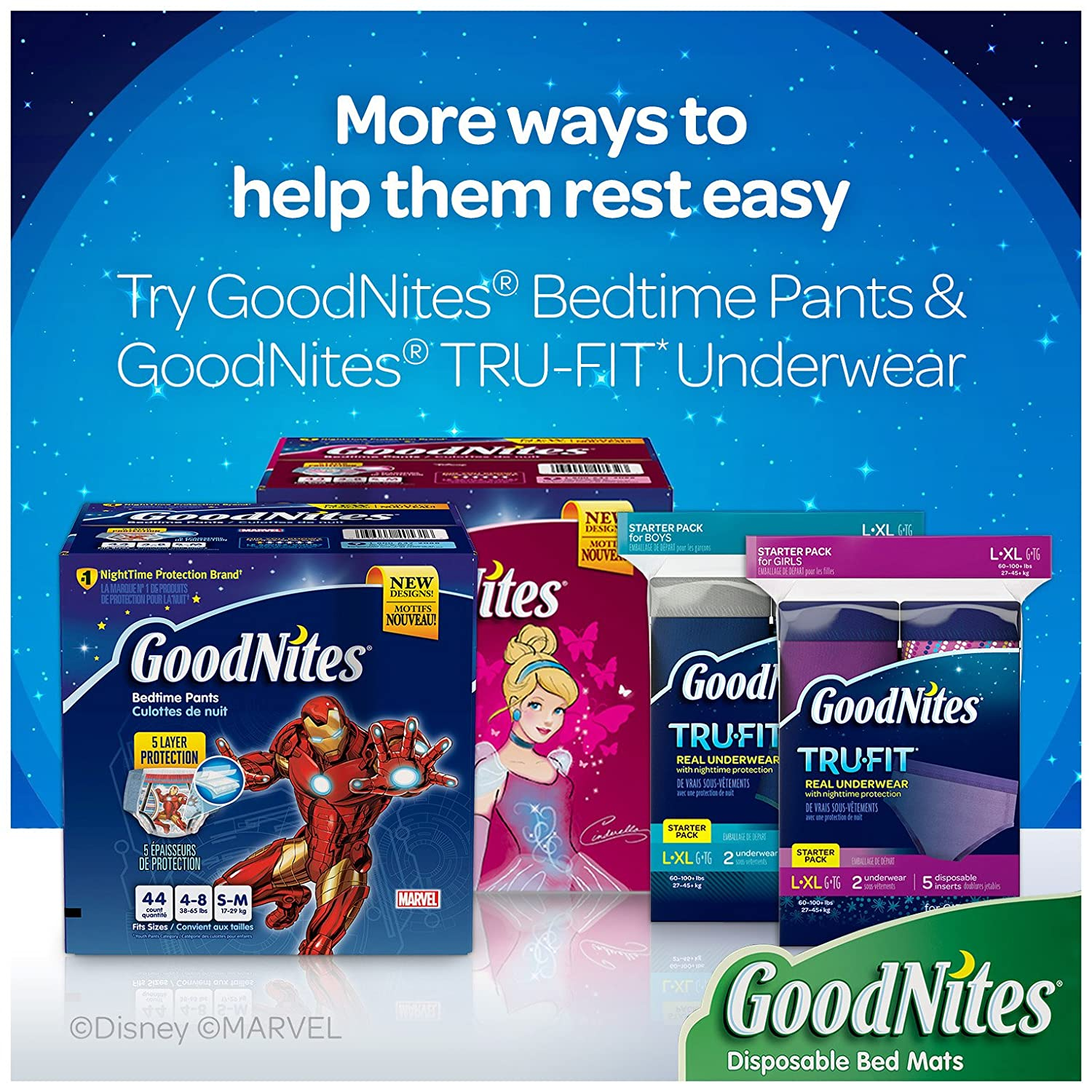 GoodNites Disposable Bed Mats, 9 Count by GoodNites: Amazon.es: Salud y cuidado personal