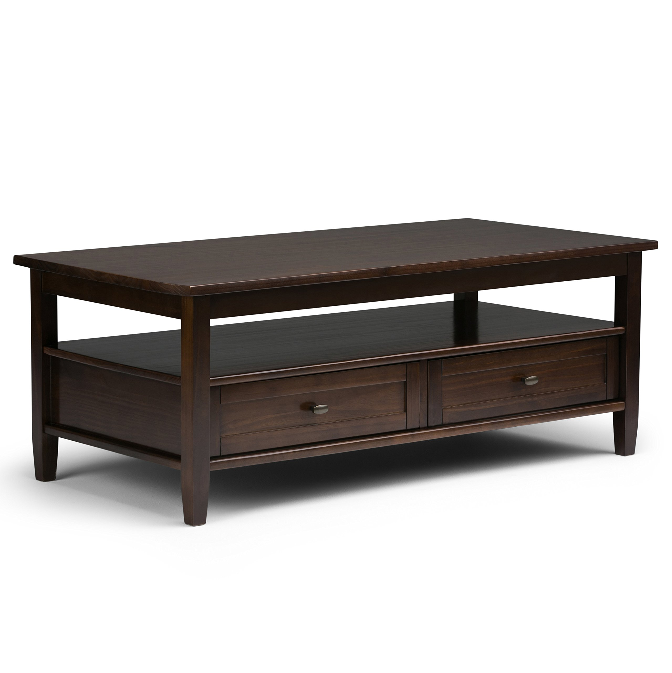 Simpli Home Warm Shaker Solid Wood Coffee Table, Tobacco Brown by Simpli Home (Image #1)