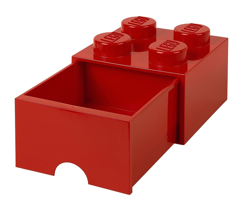 Lego l4005r.00Storage Brick 4con cassetti rosso 5711938029418